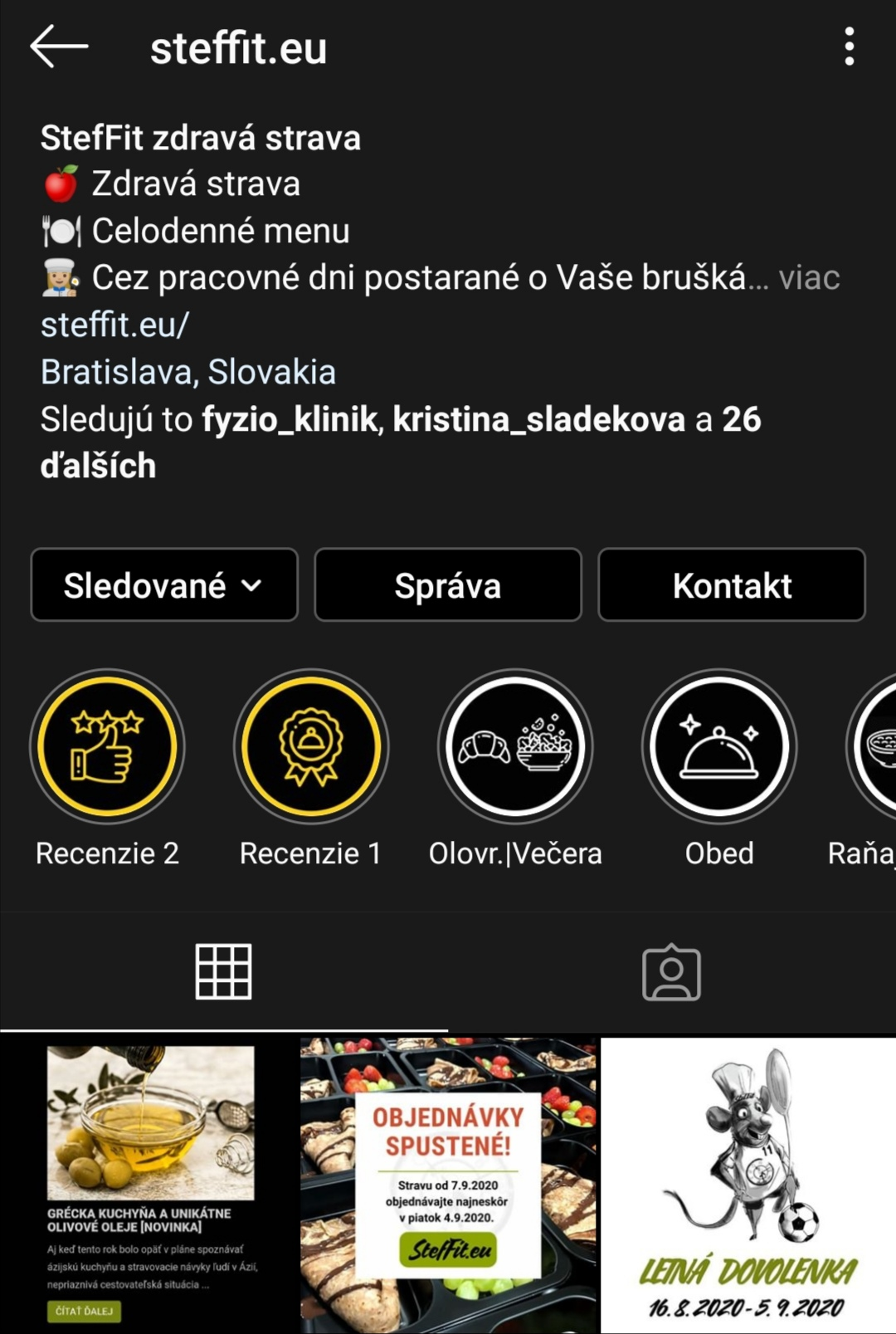StefFit referencie na instagrame